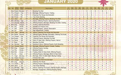 2020 Almanac Feng Shui Calendar Is Available Now ..